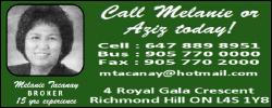 Call Melanie @ 647-889-8951